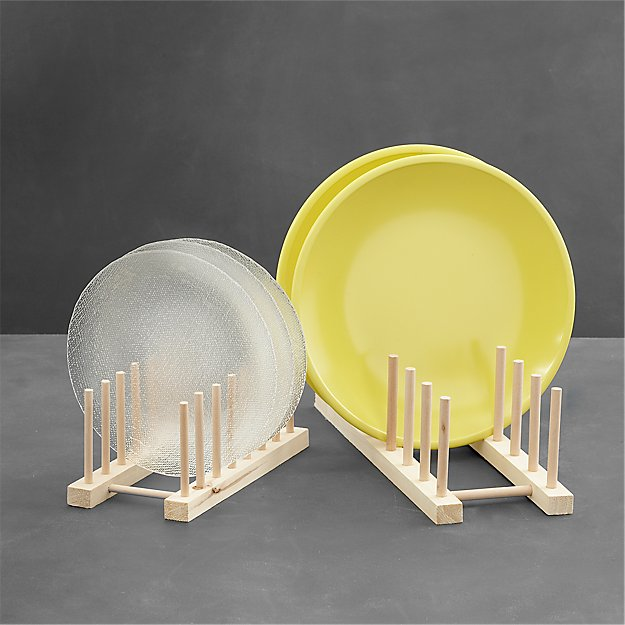 Top Wooden Plate Racks   Crate and Barrel XC17