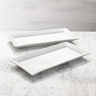 White Serving Platters Crate And Barrel