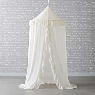 White Ruffle Playhouse Canopy & Playhouses Teepees u0026 Tents | Crate and Barrel