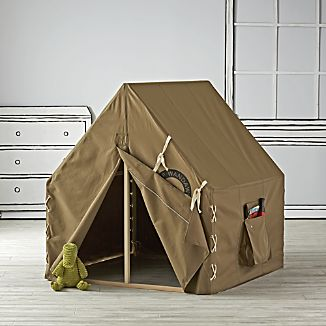 Explorer Tent Playhouse & Kids Indoor Tents | Crate and Barrel