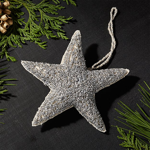 Plush Silver Star Ornament