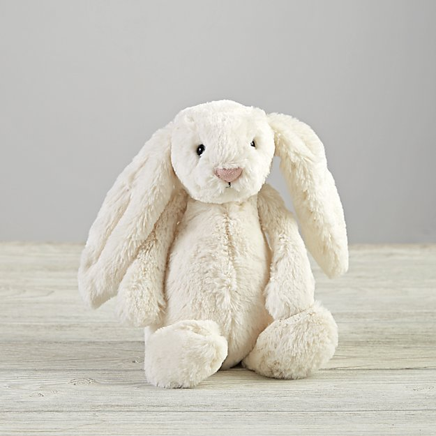 jellycat white bunny stuffed animal reviews crate and barrel