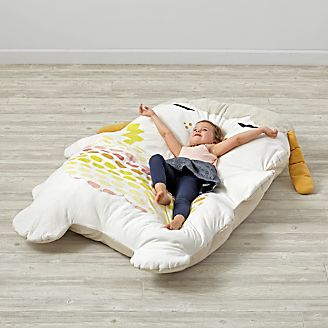 Soft Sidekick Giant Dog Stuffed Animal Kids Floor Pillows  Bean Bag Chairs Poufs Crate and Barrel