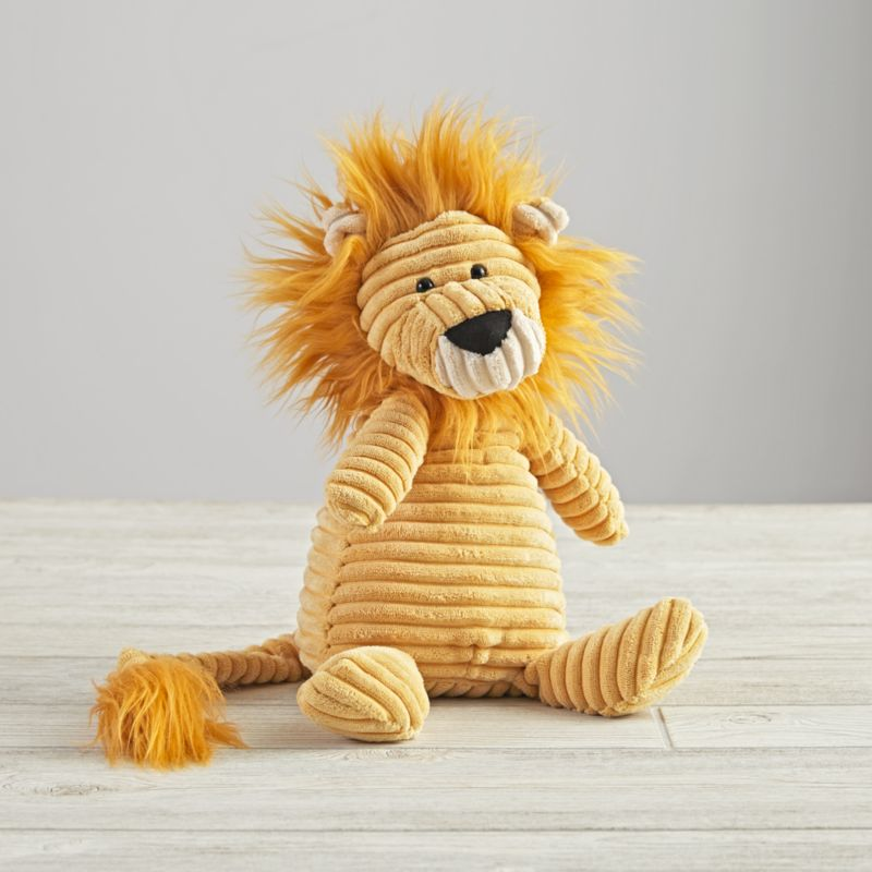 Jellycat Corduroy Lion Stuffed Animal Reviews Crate And Barrel