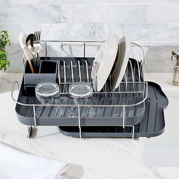 Deluxe Spring Grey Dish Rack