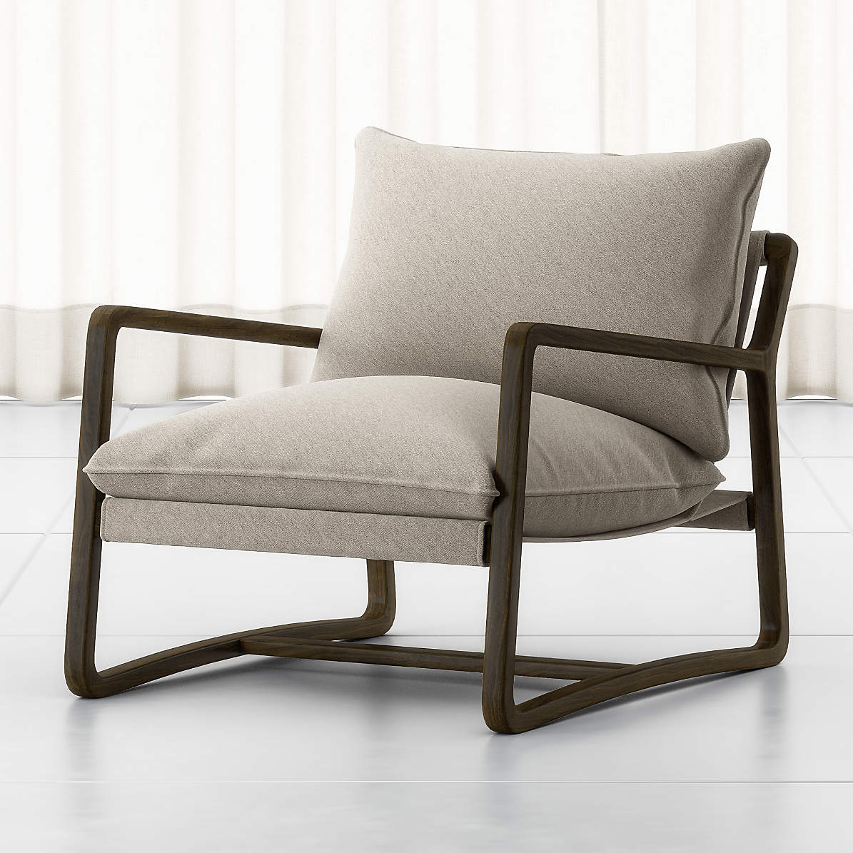 Polly Ivory Accent Chair Crate And Barrel