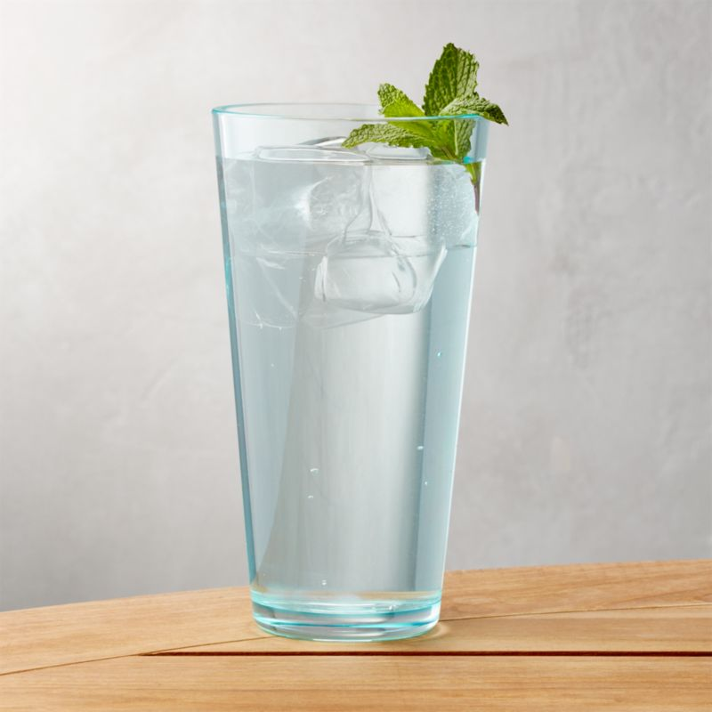 pop aqua 24 oz acrylic drink glass