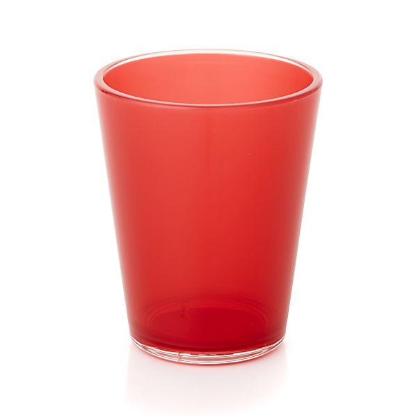 Pop Red Acrylic 15 oz. Drink Glass