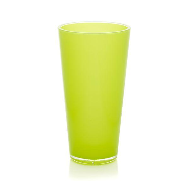 Pop Yellow Acrylic 24 oz. Drink Glass