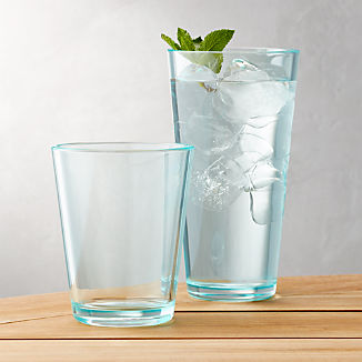 Pop Aqua Acrylic Drink Glasses