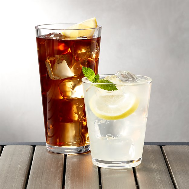 Pop Clear Acrylic Drink Glasses