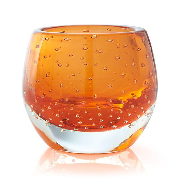 Pop Orange Tealight Holder