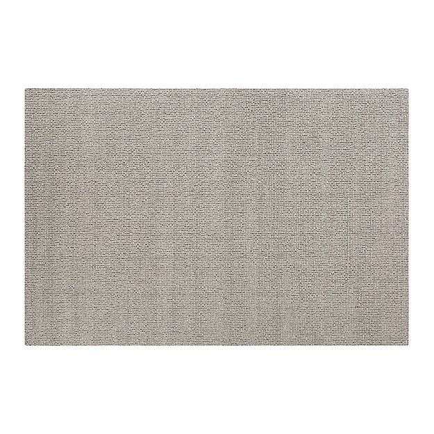Popcorn Grey Wool-Blend 5'x8' Rug