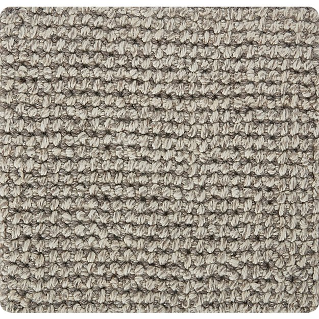 "Popcorn Grey Wool-Blend 12"" sq. Rug Swatch"