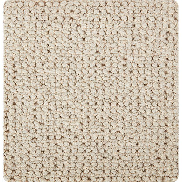 "Popcorn Ivory Wool-Blend 12"" sq. Rug Swatch"