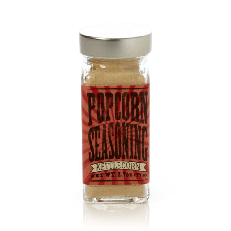 Delicious, MSG-free flavored seasoning puts a gourmet spin on one of America's favorite snacks.<br /><br /><NEWTAG/><ul><li>Kettlecorn seasoning contains brown sugar, sugar, dextrose, salt and less than 2% of silicone dioxide and sunflower oil to aid processing</li><li>Shelf life: 12 months</li><li>Gluten-free</li><li>Made in USA</li></ul>