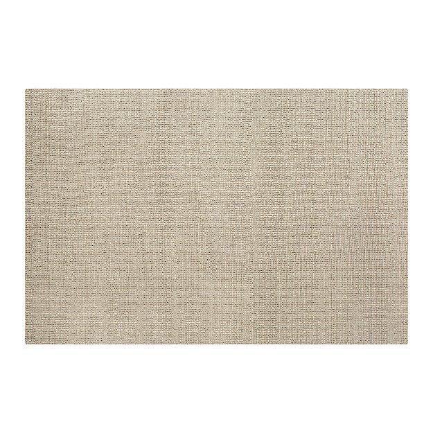 Popcorn Silver Wool-Blend 5'x8' Rug