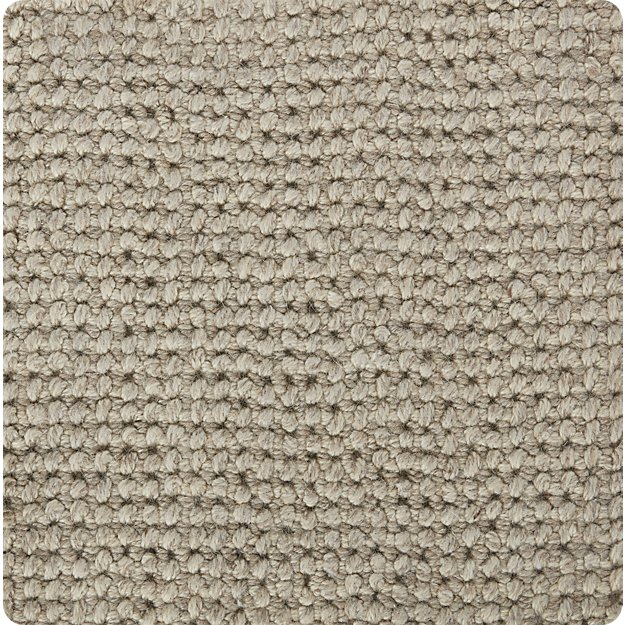 "Popcorn Silver Wool-Blend 12"" sq. Rug Swatch"