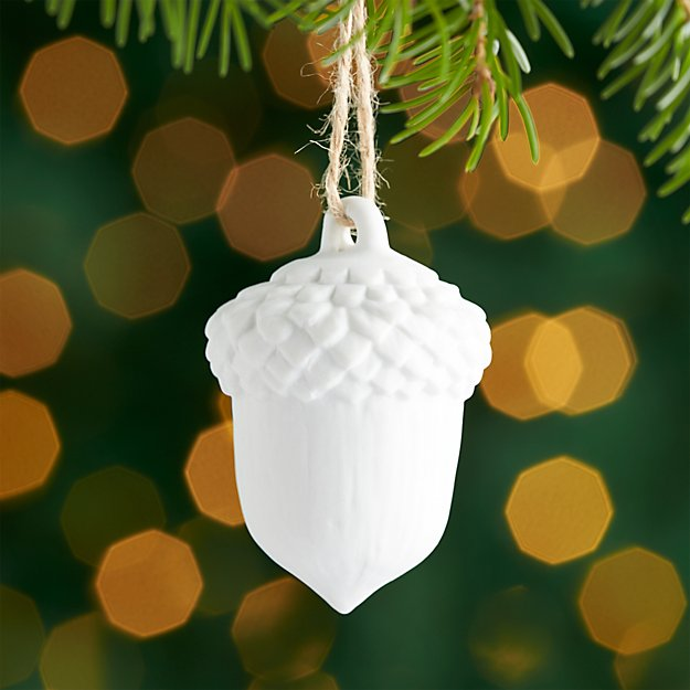Medium Acorn Porcelain Ornament