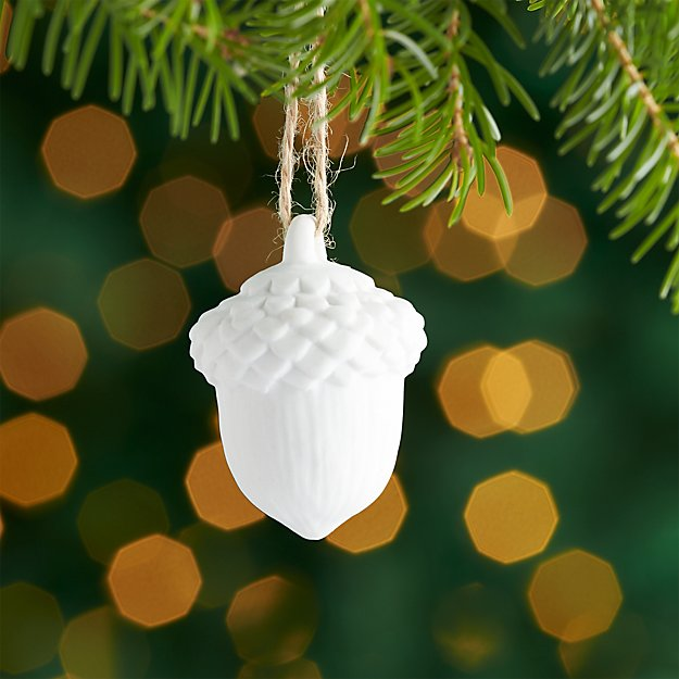 Small Acorn Porcelain Ornament