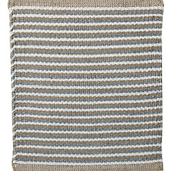 Portico Sand Indoor/Outdoor Pinstripe Rug | Crate and Barrel