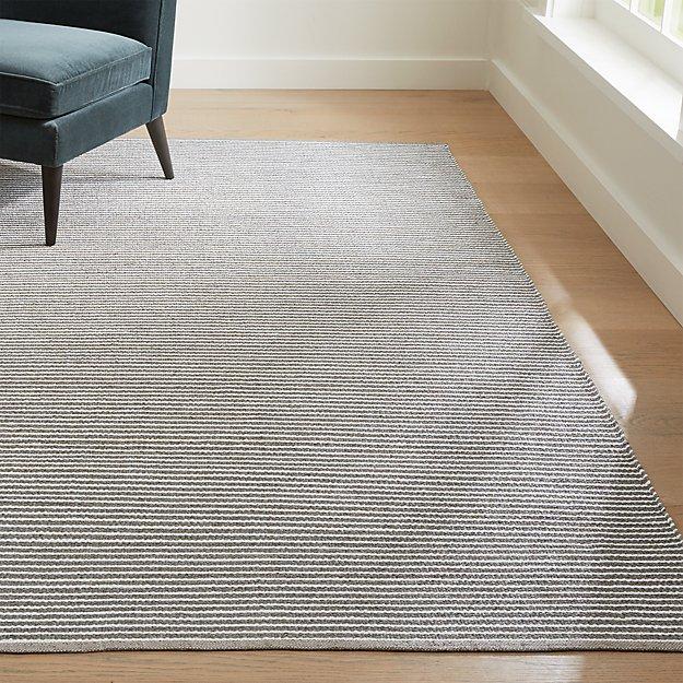 Portico sand indoor outdoor pinstripe rug crate and barrel for Cb2 indoor outdoor rug