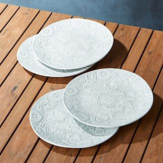 Porto Embossed Salad Plates Set of Four