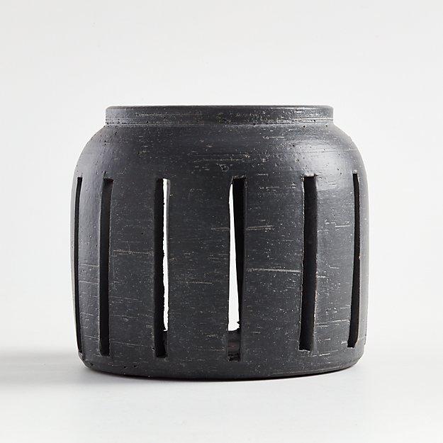 Porto Small Grey Ceramic Hurricane - Image 1 of 3