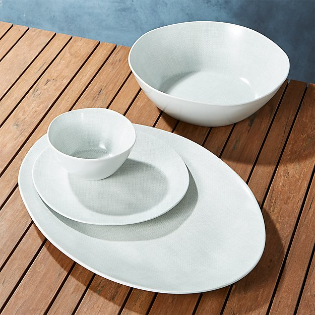 Porto Light Grey Melamine Dinnerware