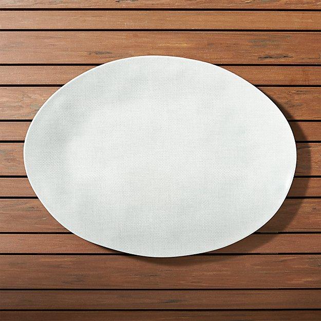 Porto Light Grey Oval Platter