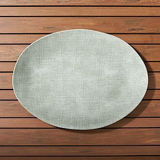 Porto Sage Green Oval Platter