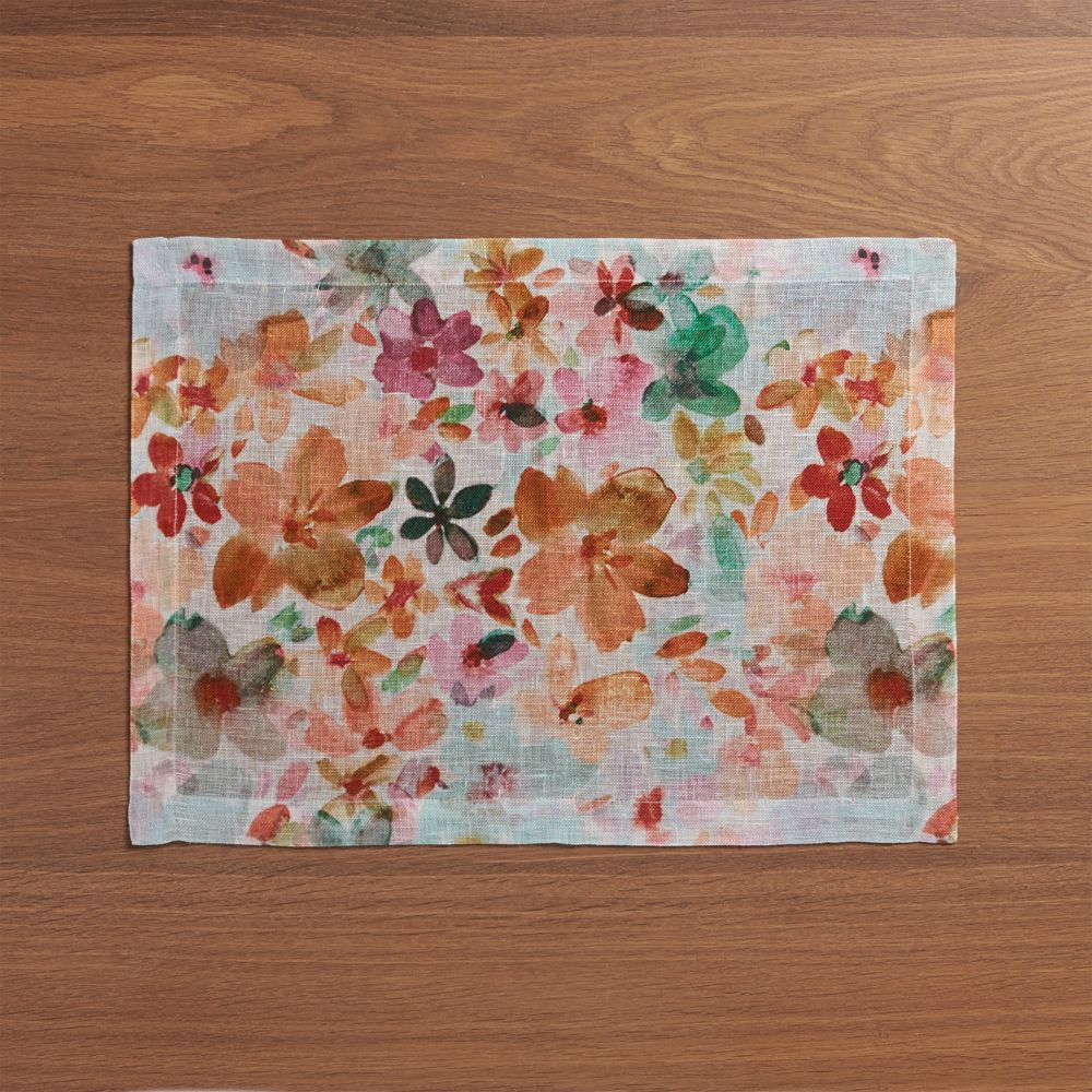 Posey Linen Placemat - Crate and Barrel