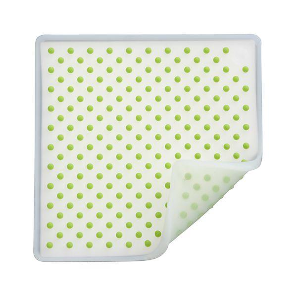 Silicone Green and White Potholder-Trivet