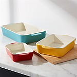 Aqua Potluck Baking Dish, Set of 3