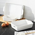 White Potluck Baking Dishes Set of Three