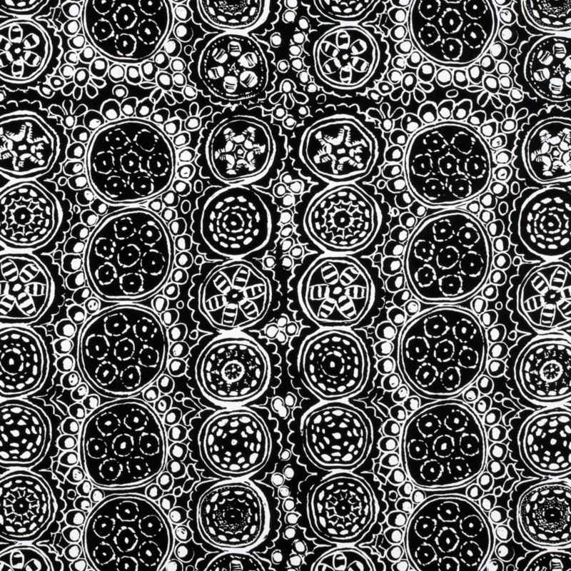 "Legendary Marimekko designer Maija Isola designed Praliini (""praline"") in 1962 as part of the Ornamentti (""ornamental"") series—her largest collection of work. Reminiscent of traditional embroidery motifs, the intricate filigree detail of Ornamentti sharply contrasts the arrestingly bold patterns that had come to define Maija's work. Printed on heavy-duty gift wrap, Praliini is abundant with linear rows of medallions, each embellished with a unique set of flourishes.<br /><br /><NEWTAG/><ul><li>Designed by Maija Isola; 1962</li><li>Heavy-duty paper</li></ul><br />"