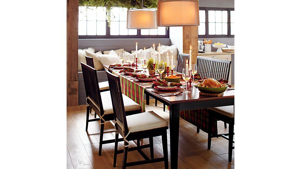 Village Bruno Black Wood Dining Chair