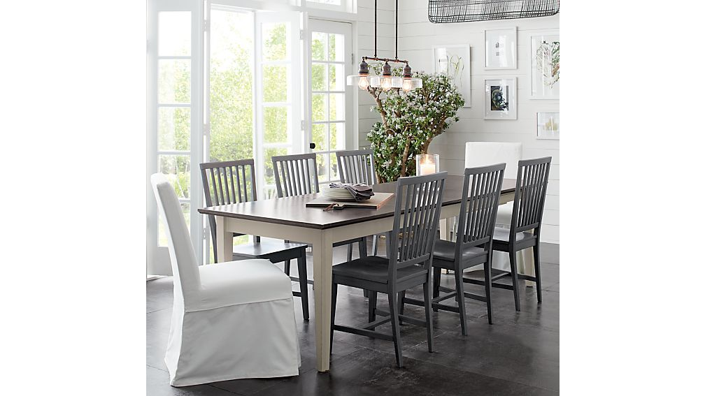 Slip White Slipcovered Dining Chair