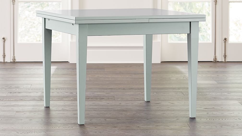 Pratico Blue Grey Extension Square Dining Table - Image 1 of 9