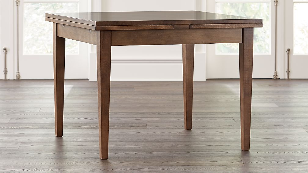 Pratico Nero Noce Extension Square Dining Table - Image 1 of 9