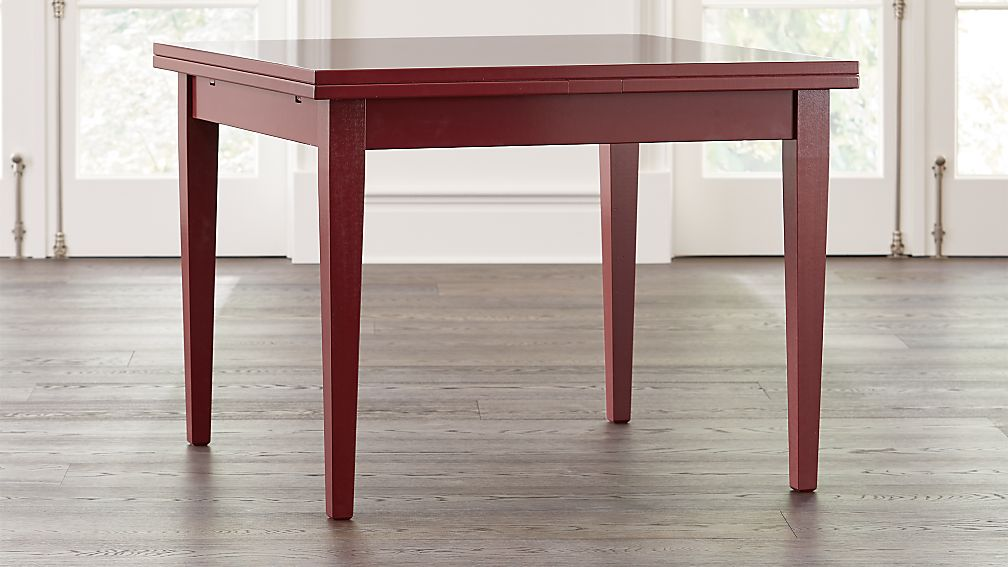 Pratico Red Extension Square Dining Table - Image 1 of 9