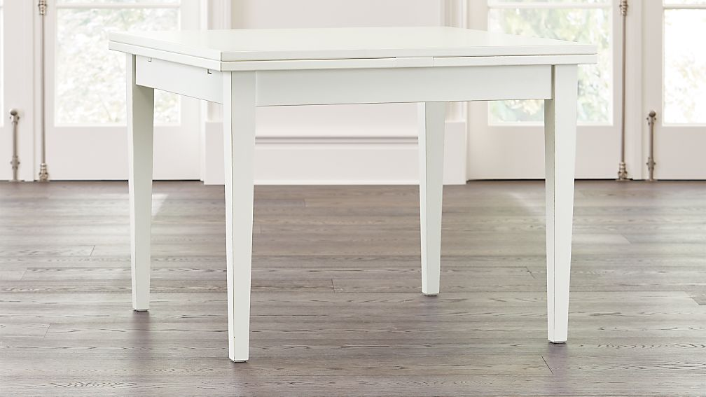 Pratico White Extension Square Dining Table - Image 1 of 9