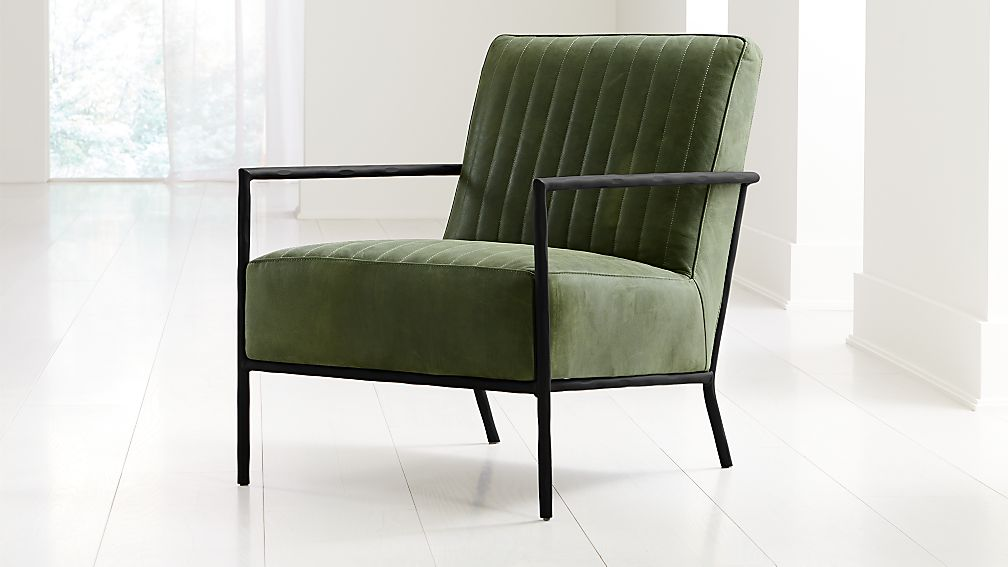 Pratt Leather Metal Frame Chair - Image 1 of 8