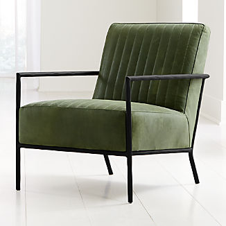 Pratt Leather Metal Frame Chair