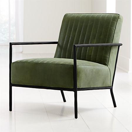 Sensational Pratt Leather Metal Frame Chair Crate And Barrel Inzonedesignstudio Interior Chair Design Inzonedesignstudiocom