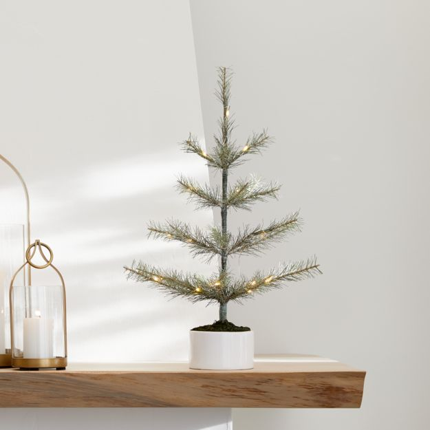 LED Small Pre-Lit Pine Tree - Image 1 of 3