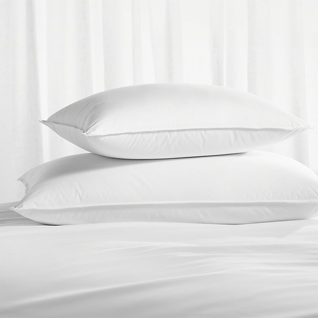 Premium Down Medium Bed Pillows Crate And Barrel