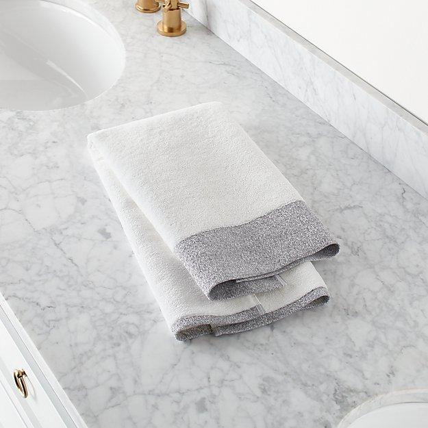 Prentice Grey Turkish Hand Towel - Image 1 of 9