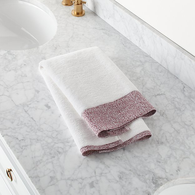 Prentice Plum Turkish Hand Towel - Image 1 of 9