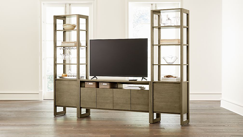 "Prescott 60"" Media Console and 2 Towers - Image 1 of 4"